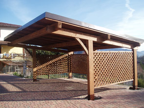 Realizzazione e vendita box auto arcover in legno per for Carport 2 posti