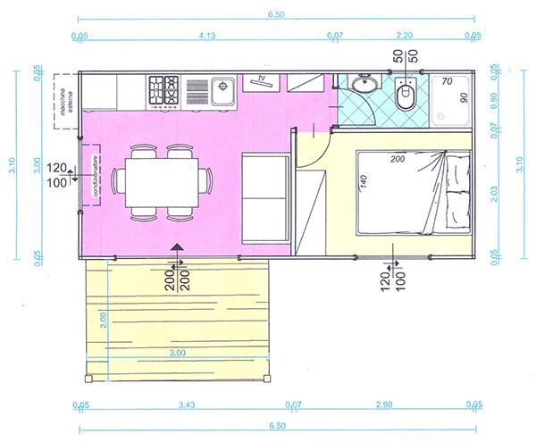 Case mobili Brescia - Planimetrie di case mobili in legno proposte da Edil Garden - Brescia