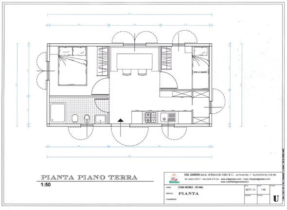 Edil garden casette in legno da giardino bungalow - Disegno pianta casa ...